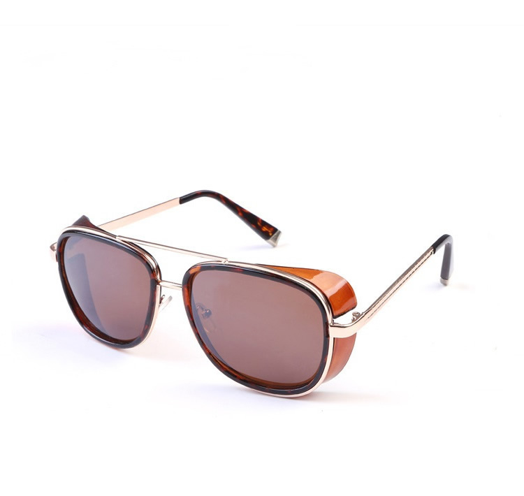 Bamware Mildred Steampunk Brown Aviators