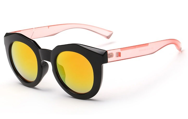 Bamware - Simone Octagonal Acrylic Sunglasses Peach