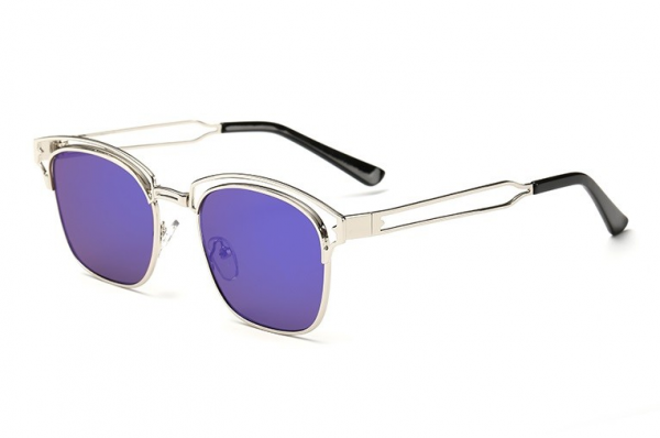 Bamware - Frankie Art Deco Flat Lens Schoolboy Flat Lens Sunglasses