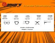 Bamware – Frankie Flat Lens Sunglasses